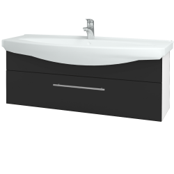 Dreja - Kúpeľňová skriňa TAKE IT SZZ 120 - N01 Bílá lesk / Úchytka T02 / N03 Graphite (207366B)