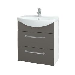 Dreja - Kúpeľňová skriňa TAKE IT SZZ2 65 - N01 Bílá lesk / Úchytka T03 / N06 Lava (207533C)