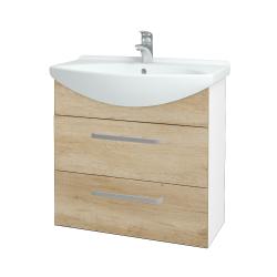 Dreja - Kúpeľňová skriňa TAKE IT SZZ2 75 - N01 Bílá lesk / Úchytka T01 / D15 Nebraska (207656A)