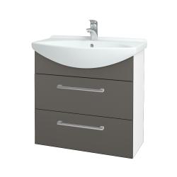 Dreja - Kúpeľňová skriňa TAKE IT SZZ2 75 - N01 Bílá lesk / Úchytka T03 / N06 Lava (207694C)