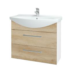 Dreja - Kúpeľňová skriňa TAKE IT SZZ2 85 - N01 Bílá lesk / Úchytka T03 / D15 Nebraska (207816C)
