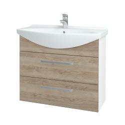 Dreja - Kúpeľňová skriňa TAKE IT SZZ2 85 - N01 Bílá lesk / Úchytka T01 / D17 Colorado (207830A)