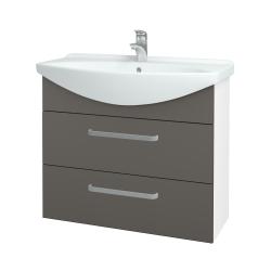 Dreja - Kúpeľňová skriňa TAKE IT SZZ2 85 - N01 Bílá lesk / Úchytka T01 / N06 Lava (207854A)