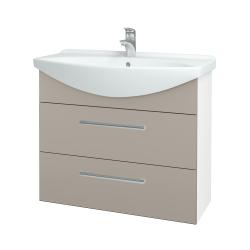 Dreja - Kúpeľňová skriňa TAKE IT SZZ2 85 - N01 Bílá lesk / Úchytka T03 / N07 Stone (207861C)
