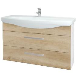 Dreja - Kúpeľňová skriňa TAKE IT SZZ2 120 - N01 Bílá lesk / Úchytka T01 / D15 Nebraska (208134A)