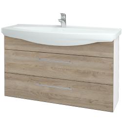 Dreja - Kúpeľňová skriňa TAKE IT SZZ2 120 - N01 Bílá lesk / Úchytka T02 / D17 Colorado (208158B)