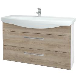 Dreja - Kúpeľňová skriňa TAKE IT SZZ2 120 - N01 Bílá lesk / Úchytka T03 / D17 Colorado (208158C)