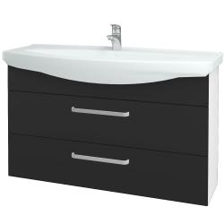 Dreja - Kúpeľňová skriňa TAKE IT SZZ2 120 - N01 Bílá lesk / Úchytka T01 / N03 Graphite (208165A)