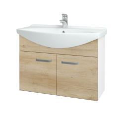 Dreja - Kúpeľňová skriňa TAKE IT SZD2 85 - N01 Bílá lesk / Úchytka T01 / D15 Nebraska (206215A)