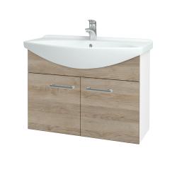 Dreja - Kúpeľňová skriňa TAKE IT SZD2 85 - N01 Bílá lesk / Úchytka T03 / D17 Colorado (206239C)