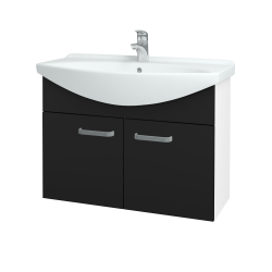 Dreja - Kúpeľňová skriňa TAKE IT SZD2 85 - N01 Bílá lesk / Úchytka T01 / N08 Cosmo (206277A)