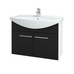 Dreja - Kúpeľňová skriňa TAKE IT SZD2 85 - N01 Bílá lesk / Úchytka T02 / N08 Cosmo (206277B)