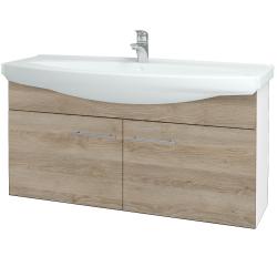 Dreja - Kúpeľňová skriňa TAKE IT SZD2 120 - N01 Bílá lesk / Úchytka T02 / D17 Colorado (206550B)