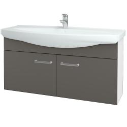 Dreja - Kúpeľňová skriňa TAKE IT SZD2 120 - N01 Bílá lesk / Úchytka T03 / N06 Lava (206574C)