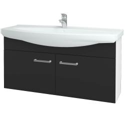 Dreja - Kúpeľňová skriňa TAKE IT SZD2 120 - N01 Bílá lesk / Úchytka T03 / N03 Graphite (206567C)