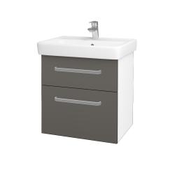 Dreja - Kúpeľňová skriňa Q MAX SZZ2 60 - N01 Bílá lesk / Úchytka T01 / N06 Lava (198237A)