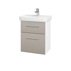 Dreja - Kúpeľňová skriňa GO SZZ2 50 - N01 Bílá lesk / Úchytka T01 / N07 Stone (204556A)