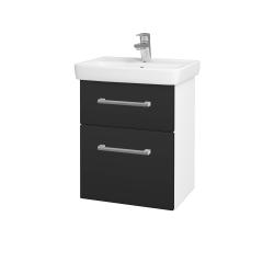 Dreja - Kúpeľňová skriňa GO SZZ2 50 - N01 Bílá lesk / Úchytka T03 / N03 Graphite (204617C)