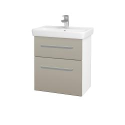 Dreja - Kúpeľňová skriňa GO SZZ2 55 - N01 Bílá lesk / Úchytka T01 / M05 Béžová mat (204716A)