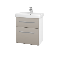 Dreja - Kúpeľňová skriňa GO SZZ2 55 - N01 Bílá lesk / Úchytka T01 / N07 Stone (204747A)