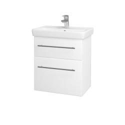 Dreja - Kúpeľňová skriňa GO SZZ2 55 - N01 Bílá lesk / Úchytka T02 / M01 Bílá mat (247195B)
