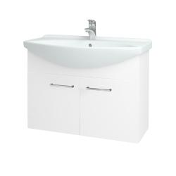 Dreja - Kúpeľňová skriňa TAKE IT SZD2 85 - N01 Bílá lesk / Úchytka T04 / N01 Bílá lesk (133603E)