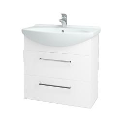 Dreja - Kúpeľňová skriňa TAKE IT SZZ2 75 - N01 Bílá lesk / Úchytka T04 / N01 Bílá lesk (134440E)
