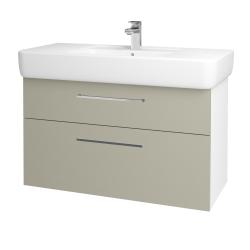 Dreja - Kúpeľňová skriňa Q MAX SZZ2 100 - N01 Bílá lesk / Úchytka T04 / L04 Béžová vysoký lesk (144944E)