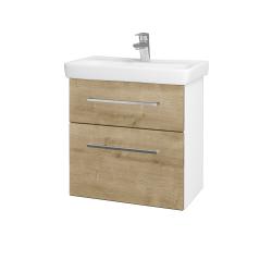 Dreja - Kúpeľňová skriňa GO SZZ2 60 - N01 Bílá lesk / Úchytka T04 / D09 Arlington (148621E)