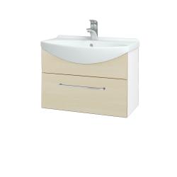 Dreja - Kúpeľňová skriňa TAKE IT SZZ 65 - N01 Bílá lesk / Úchytka T04 / D02 Bříza (152383E)