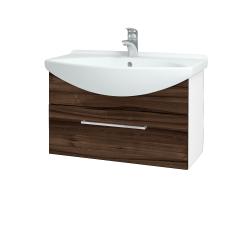 Dreja - Kúpeľňová skriňa TAKE IT SZZ 75 - N01 Bílá lesk / Úchytka T04 / D06 Ořech (152512E)