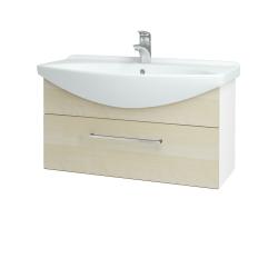 Dreja - Kúpeľňová skriňa TAKE IT SZZ 85 - N01 Bílá lesk / Úchytka T04 / D02 Bříza (152567E)
