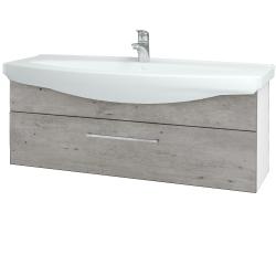 Dreja - Kúpeľňová skriňa TAKE IT SZZ 120 - N01 Bílá lesk / Úchytka T04 / D01 Beton (152734E)