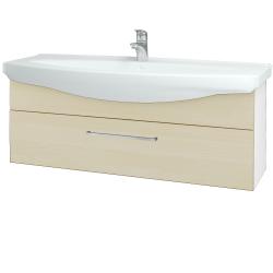 Dreja - Kúpeľňová skriňa TAKE IT SZZ 120 - N01 Bílá lesk / Úchytka T04 / D02 Bříza (152741E)