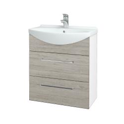 Dreja - Kúpeľňová skriňa TAKE IT SZZ2 65 - N01 Bílá lesk / Úchytka T04 / D05 Oregon (152864E)
