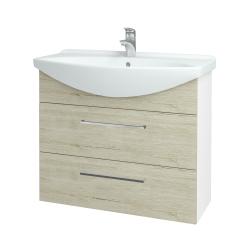 Dreja - Kúpeľňová skriňa TAKE IT SZZ2 85 - N01 Bílá lesk / Úchytka T04 / D05 Oregon (153045E)