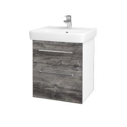 Dreja - Kúpeľňová skriňa Q MAX SZZ2 55 - N01 Bílá lesk / Úchytka T04 / D10 Borovice Jackson (198022E)