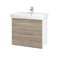 Dreja - Kúpeľňová skriňa Q MAX SZZ2 70 - N01 Bílá lesk / Úchytka T04 / D17 Colorado (198428E)