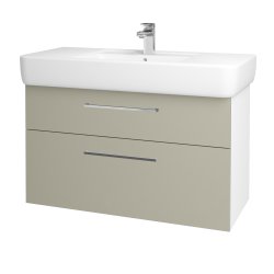Dreja - Kúpeľňová skriňa Q MAX SZZ2 100 - N01 Bílá lesk / Úchytka T04 / M05 Béžová mat (198831E)