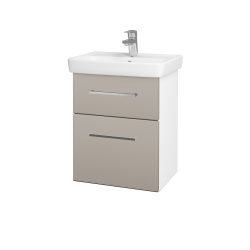 Dreja - Kúpeľňová skriňa GO SZZ2 50 - N01 Bílá lesk / Úchytka T04 / N07 Stone (204556E)