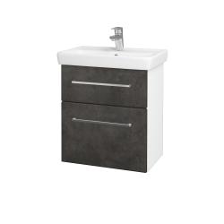 Dreja - Kúpeľňová skriňa GO SZZ2 55 - N01 Bílá lesk / Úchytka T04 / D16 Beton tmavý (204693E)