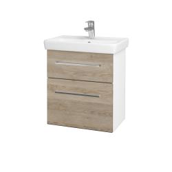 Dreja - Kúpeľňová skriňa GO SZZ2 55 - N01 Bílá lesk / Úchytka T04 / D17 Colorado (204709E)