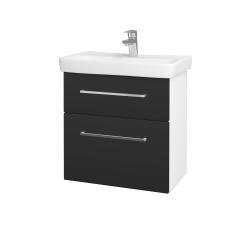 Dreja - Kúpeľňová skriňa GO SZZ2 60 - N01 Bílá lesk / Úchytka T04 / N03 Graphite (204921E)