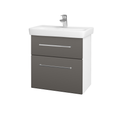 Dreja - Kúpeľňová skriňa GO SZZ2 60 - N01 Bílá lesk / Úchytka T04 / N06 Lava (204938E)