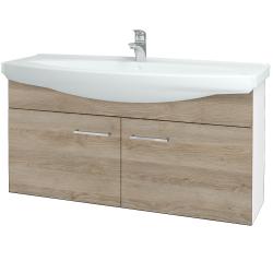 Dreja - Kúpeľňová skriňa TAKE IT SZD2 120 - N01 Bílá lesk / Úchytka T04 / D17 Colorado (206550E)