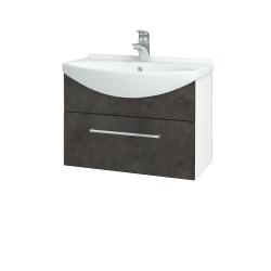 Dreja - Kúpeľňová skriňa TAKE IT SZZ 65 - N01 Bílá lesk / Úchytka T04 / D16 Beton tmavý (206703E)