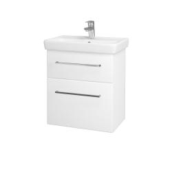 Dreja - Kúpeľňová skriňa GO SZZ2 55 - N01 Bílá lesk / Úchytka T04 / L01 Bílá vysoký lesk (20722E)