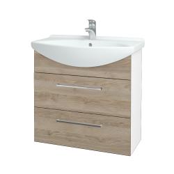 Dreja - Kúpeľňová skriňa TAKE IT SZZ2 75 - N01 Bílá lesk / Úchytka T04 / D17 Colorado (207670E)