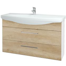 Dreja - Kúpeľňová skriňa TAKE IT SZZ2 120 - N01 Bílá lesk / Úchytka T04 / D15 Nebraska (208134E)
