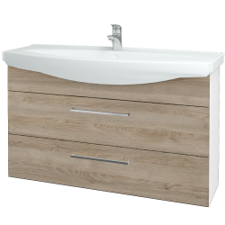 Dreja - Kúpeľňová skriňa TAKE IT SZZ2 120 - N01 Bílá lesk / Úchytka T04 / D17 Colorado (208158E)